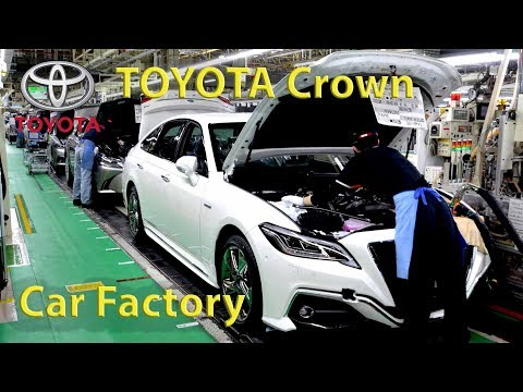 Toyota Crown Production, Toyota Factory, Toyota Crown Assembly Line (Aichi, Japan) Motomachi plant