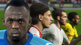 Usain Bolt vs World's Fastest Football Players (PES 2018 Speed Test)