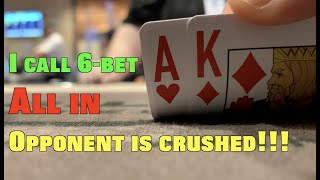 I Call 6-Bet All In And Have Opponent Absolutely Crushed!! Poker Vlog Ep 160