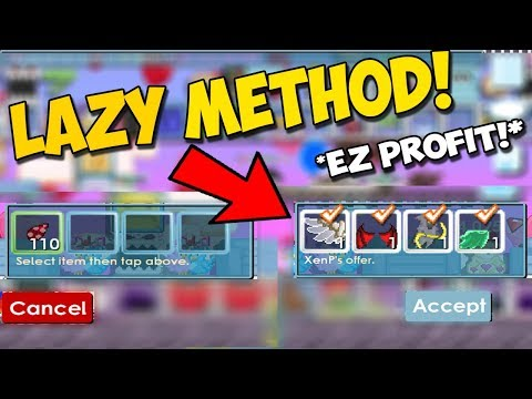 Growtopia | How to get rich without farming? **LAZY METHOD**