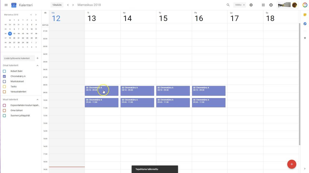 Google Kalenteri Synkronointi