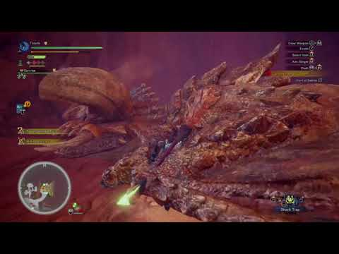 Monster Hunter World capturing  diablos