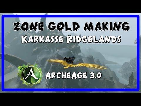 ArcheAge - Zone gold making - Karkasse Ridgelands