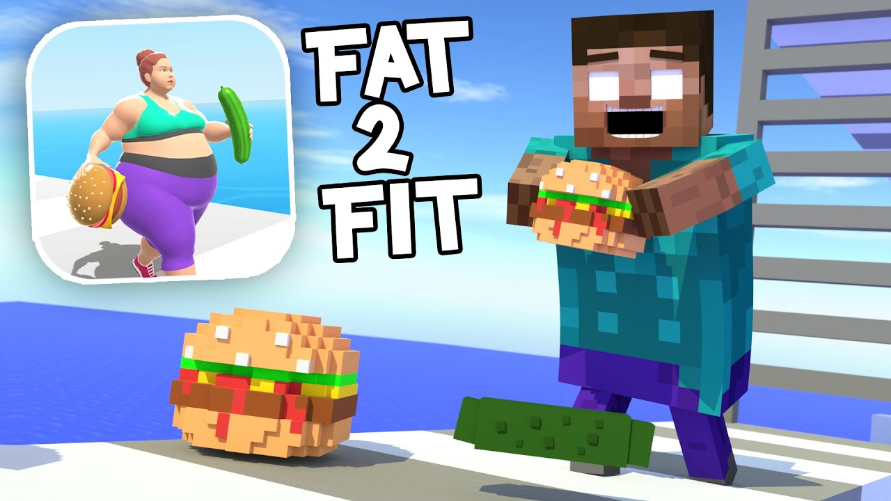 Monster School : FAT 2 FIT CHALLENGE - Minecraft Animation