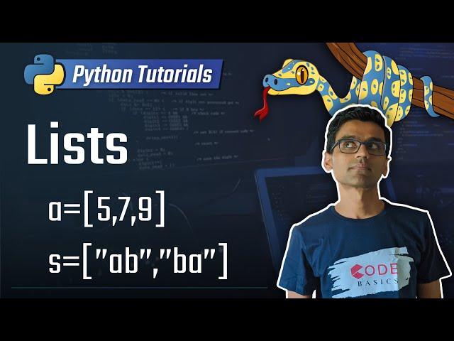 5. Lists [Python 3 Programming Tutorials]