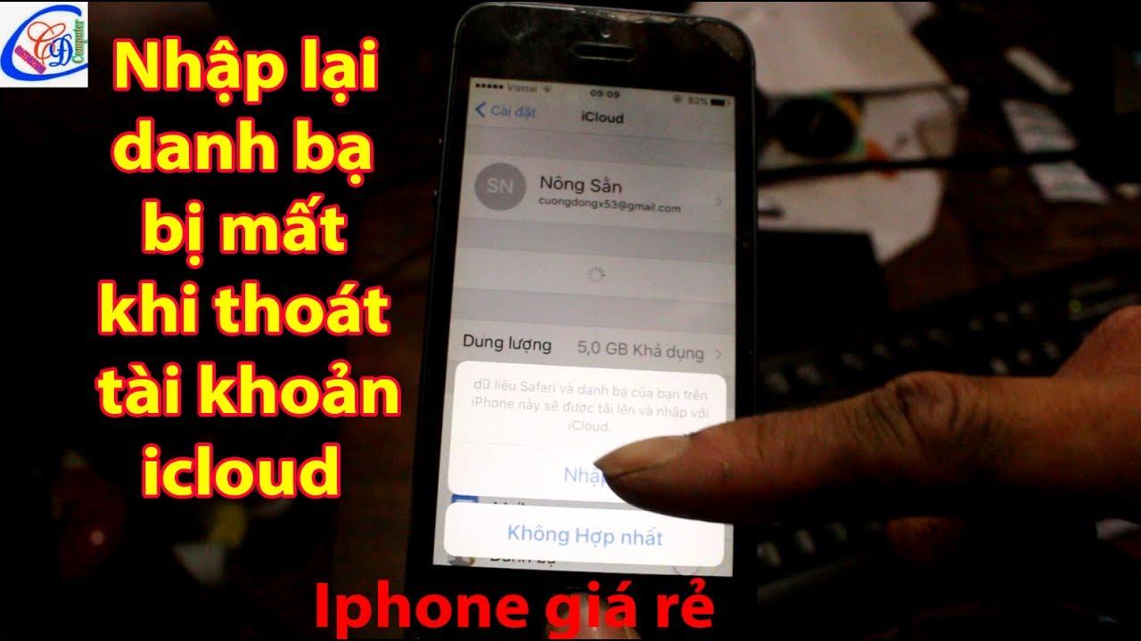Cách nhập danh bạ từ tài khoản icloud vào điện thoại iphone đơn giản
