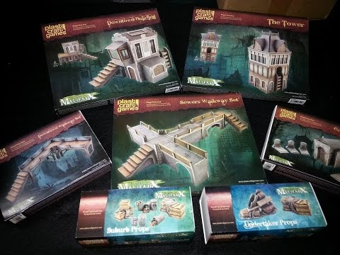 Malifaux Terrain by PlastCraft Games Review and Assembly