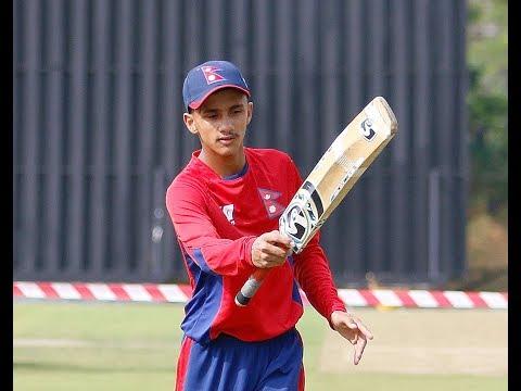 Bishal Bikram KC Classic Batting In U19 Asia Cup Qualifiers