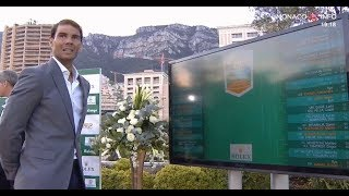 Rafael Nadal at the Draw Ceremony at Rolex Monte-Carlo Masters 2019