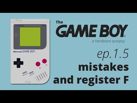 The Game Boy, a hardware autopsy - Part 1.5: a few mistakes and register F
