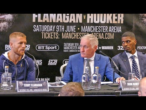 Terry Flanagan vs. Maurice Hooker FIESTY PRESS CONFERENCE | Full Undercard Press Conference boxing
