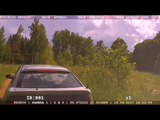 Kārsavas novadā aiztur jaunieti, kurš pārkāpj ceļu satiksmes noteikumus un bēg no policijas