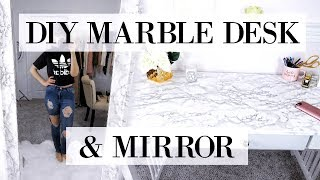 DIY MARBLE TABLE!!!!!! For $9!!!!