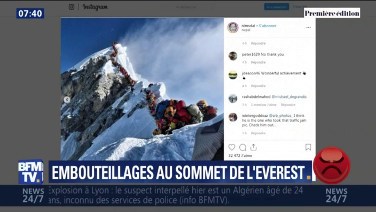 De tristes images d'embouteillages sur le sommet de l'Everest