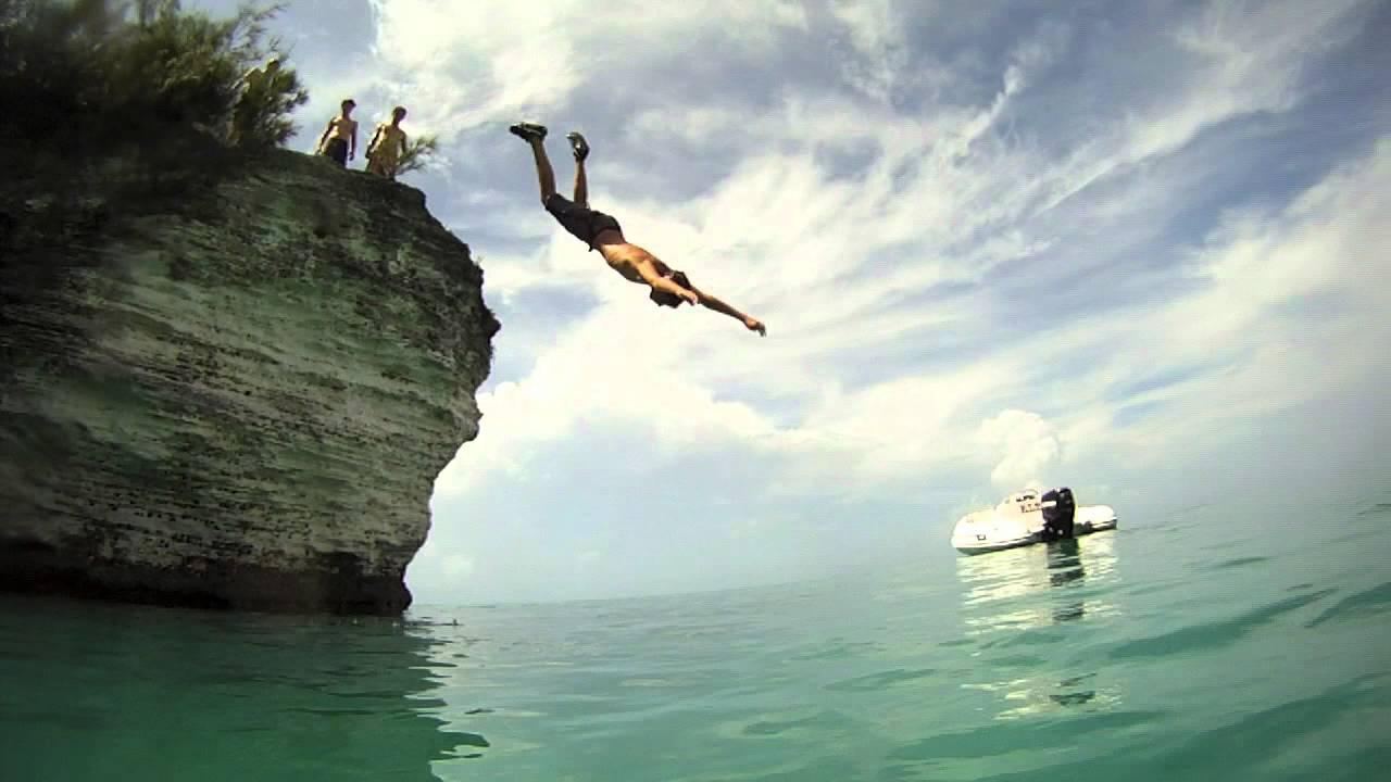 Bermuda Cliff Jumping GoPro HD