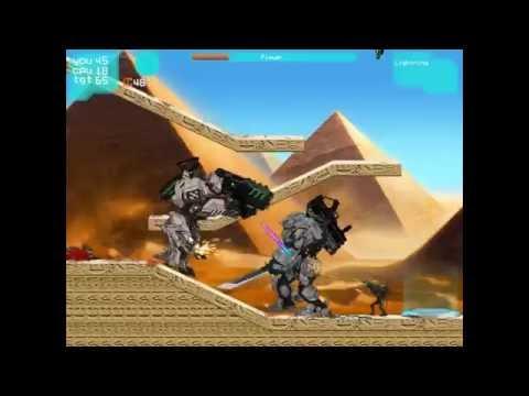 Игра Люди и Роботы против Пришельцев 13 уровней Прохождение