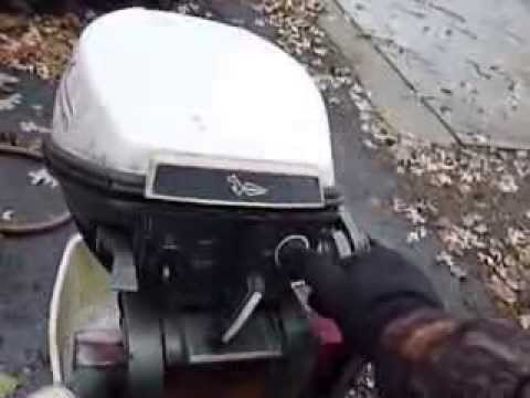 9 5 Hp Johnson Mq 13m Outboard Motor 1970 Youtube
