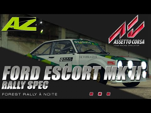 Assetto Corsa (PC) - Ford Escort Mark II Rally Spec Night em Forest Rally Noite - PTBR - 2019