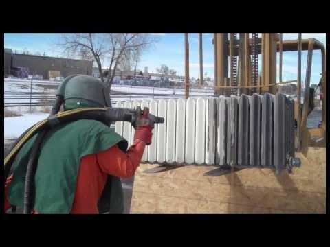 video:Media Blasting an Antique Radiator