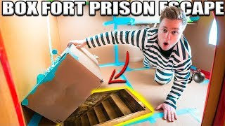 24 HOUR BOX FORT PRISON ESCAPE ROOM!! 📦🚔 Secret UNDERGROUND Tunnel, SPY GADGETS & More!