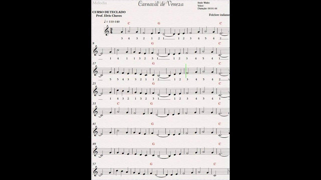 CARNAVAL DE VENEZA PARTITURA PDF