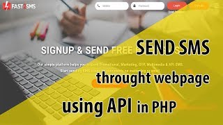 Send Sms Through A Webpage Using Fast2sms Api In PHP