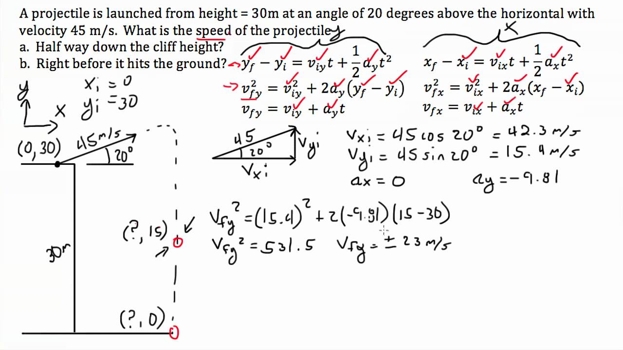 online physics problem solver easy ways to solve math problems  projectile motion at angle off cliff projectile motion at angle off cliff