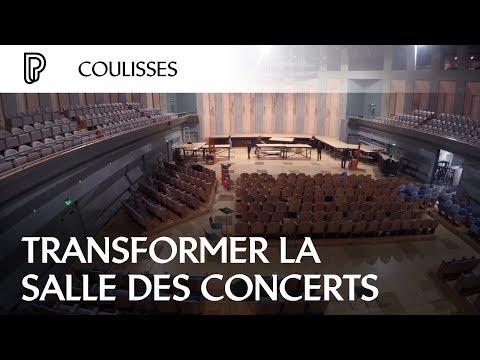 Les multiples configurations de la Salle des concerts de la Cité de la musique