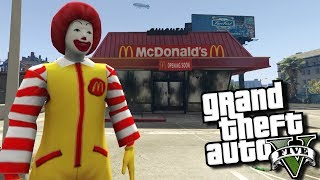 gta 5 mods mcdonald s ronald mcdonald mod gta 5 pc mods gameplay