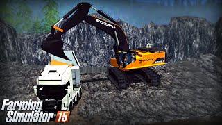 Farming Simulator 15: Volvo EC700B (Mining & Construction Economy mod)