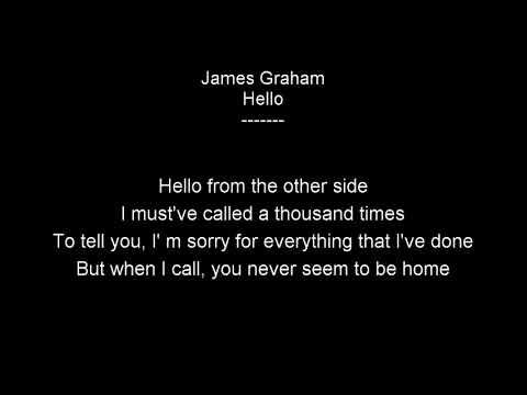 James Graham - Hello Lyrics