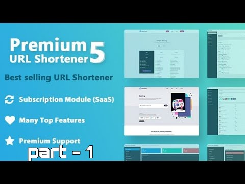 Premium Url Shortener 5 with Subscription Installation Full Prossess Part - 1