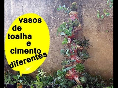 VASOS DE CIMENTO E TOALHA SUPER NOVIDADE E ECONOMICO