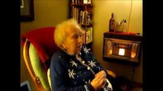Silent Night Sang by 100 Year Old in German Dialect