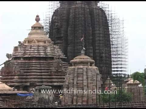 Lingaraj Temple under renovation in Bhubaneshwar, Orissa
