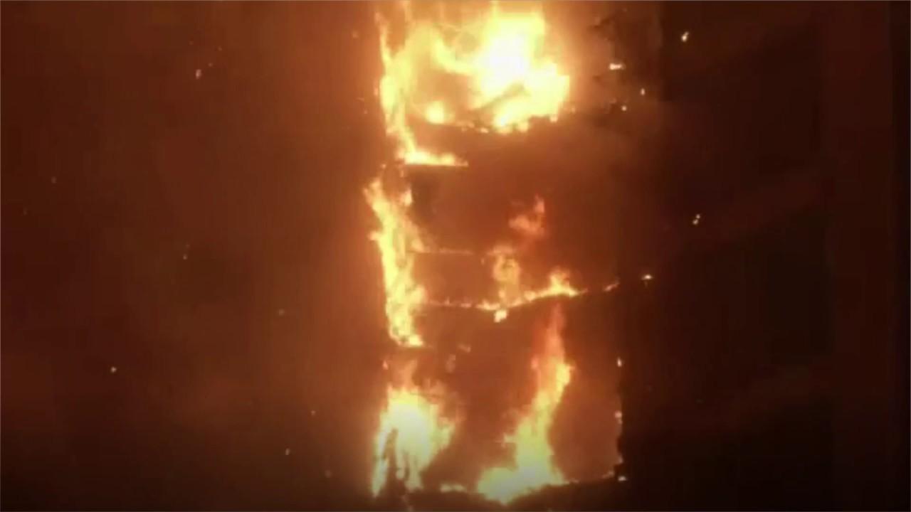 Dubai tower fire: Residents flee 86-story building blaze