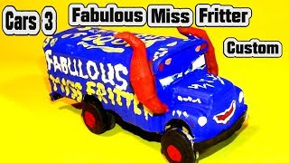 Pixar Cars 3 Custom Fabulous Miss Fritter Demolition Derby Crazy 8 Car with Primer Lightning McQueen