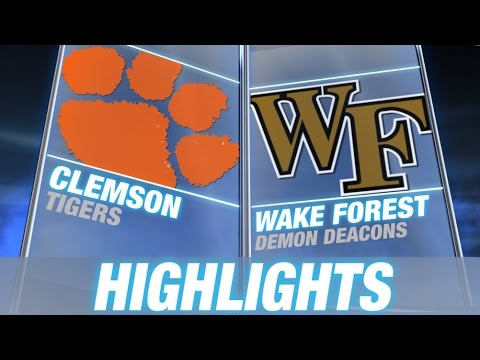 Clemson vs Wake Forest | 2014 ACC Football Highlights