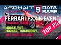 Asphalt 9: Ferrari FXX K Pharaoh Games Best Route Top 1%