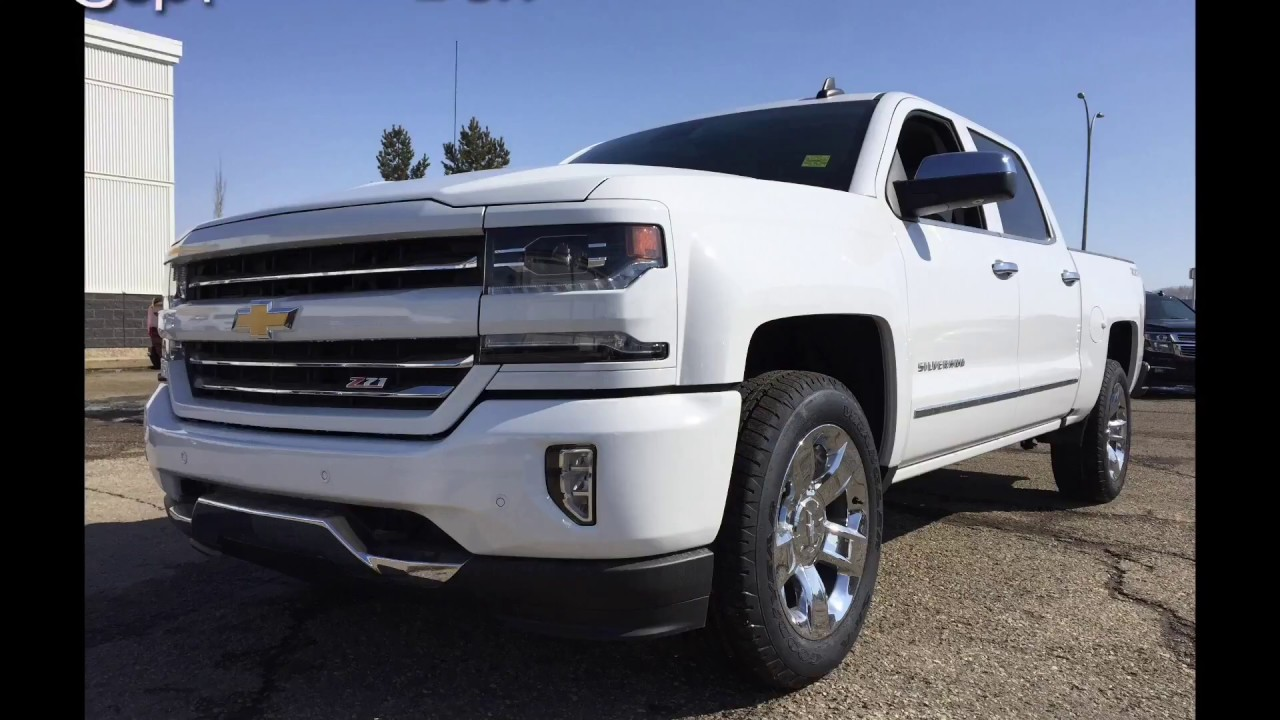 2017 Chevrolet Silverado 1500 Crew Cab Short Box For 2lz 4x4 White 17n083