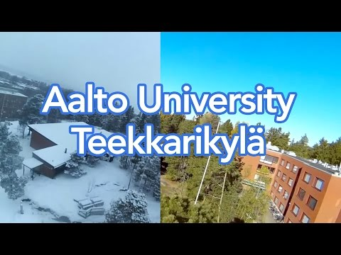 Otaniemi teekkarikylä in the summer and in the winter