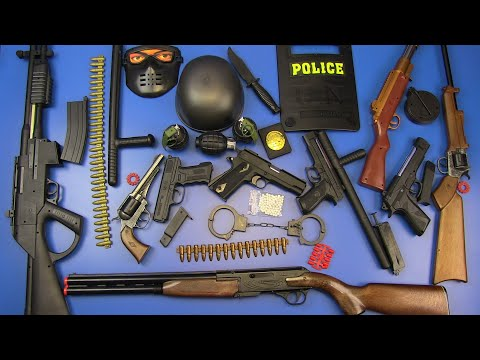 BOX OF TOYS ! Guns Toys - Realistic Rifle Toys&Military,Police Equipment Toys
