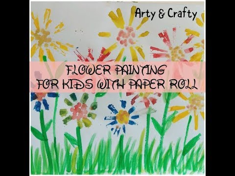 FLOWER PAINTING WITH PAPEREASY FOR KIDSPAPER EARBUD TECHNIQUE CRAFT IDEA KIDS