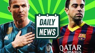 TRANSFER NEWS: Hazard update, Ronaldo Juventus bicycle kick, Xavi retirement + more! ► Daily News