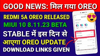 Redmi 5a ANDROID Oreo Update