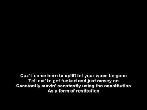 Eminem - Stimulate Lyrics on Screen
