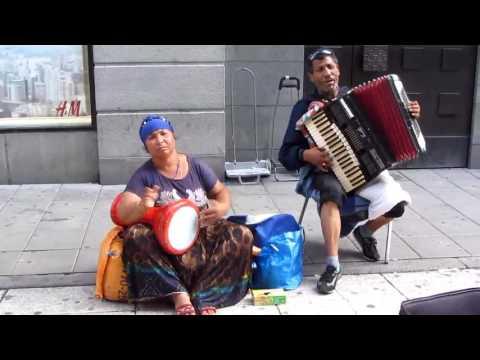 Bulgarian Romani musicians on  Stockholm's street 2016