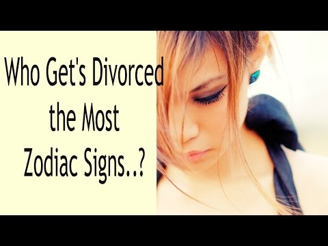 Who gets Divorced the Most.. Zodiac Signs?