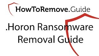 Remove .Horon File Virus Ransomware