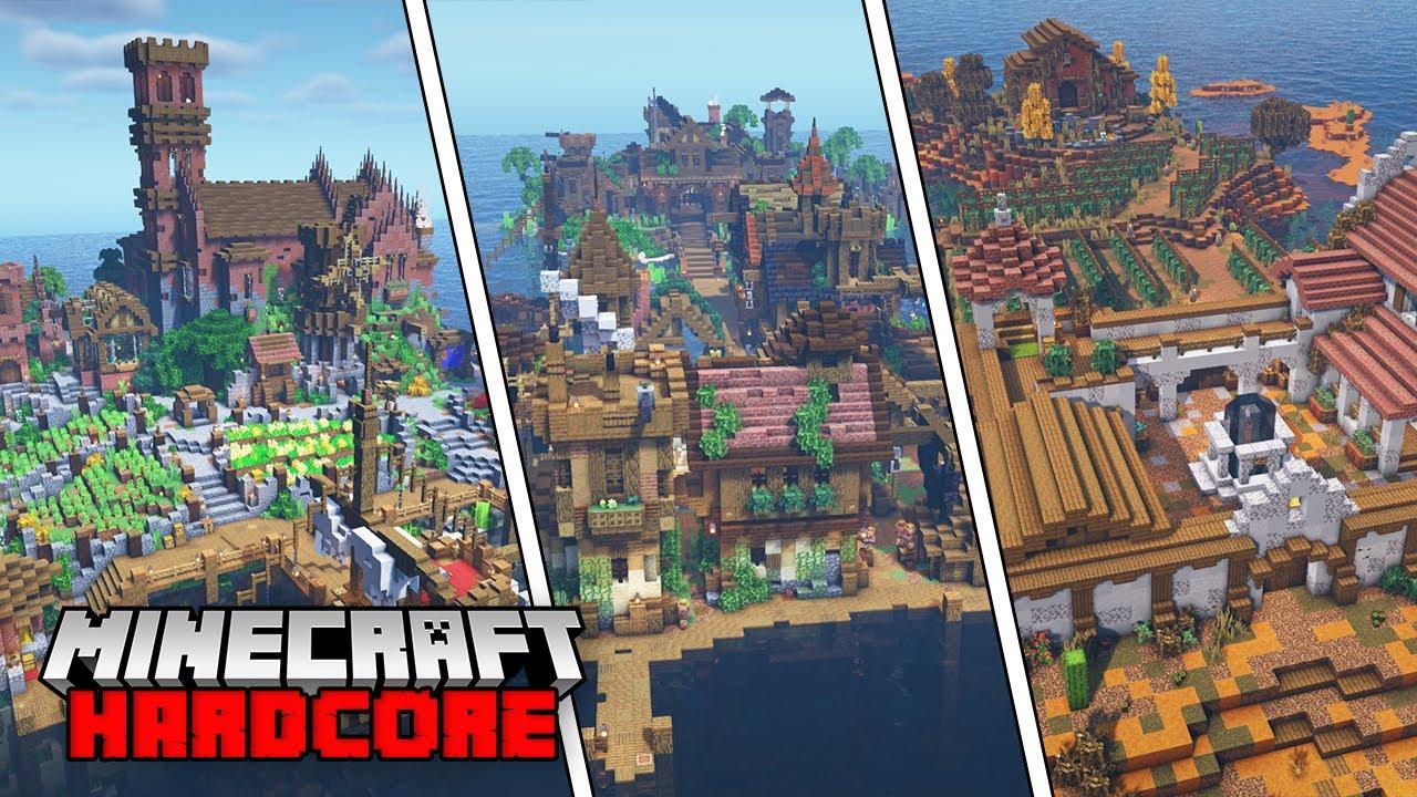 Minecraft Hardcore Let's Play - EPIC WORLD TOUR!!! - Episode 50